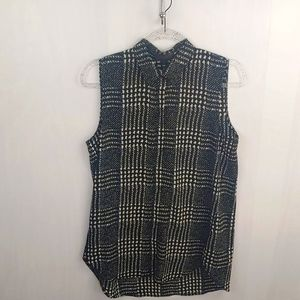 J. Crew Houndstooth Button up collared top